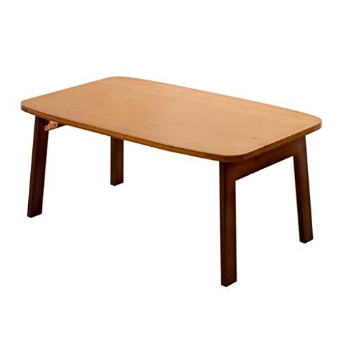 XIAOYUhy opvouwbare laptop bureau, draagbaar staand bureau, ontbijt lezen bed bank verdieping kinderkamer multifunctionele tafel bruin 3