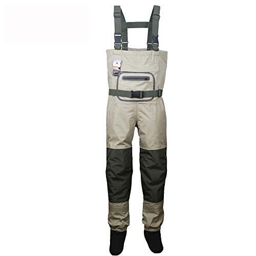 HABADOG Fly Fishing Waterproof Breathable Waders Neoprene Stocking Foot Chest Waders for Men and Women (Color : 3XL)