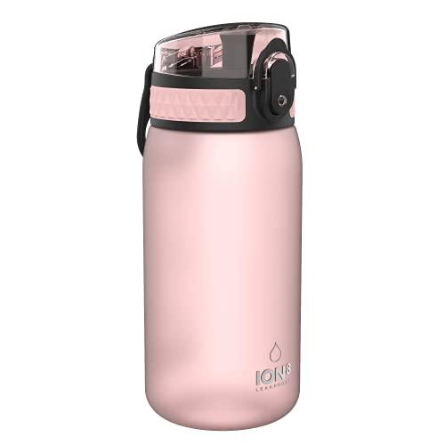 Ion8 Borraccia Bambini Senza Perdite, Senza BPA, Rosa Chiaro