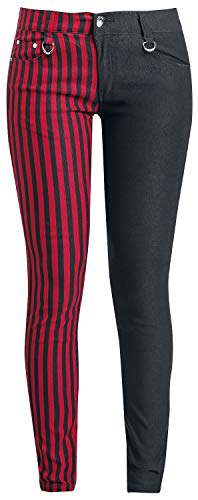 Banned Alternative Punk Trousers Frauen Stoffhose schwarz/rot W32L34