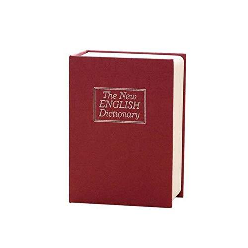 Kassa MYKK Creatief woordenboek Boek Spaarpotten Spaarpot met slot Verborgen Geheim Beveiliging Kluis 11,5 * 8 * 4,6 cm rood