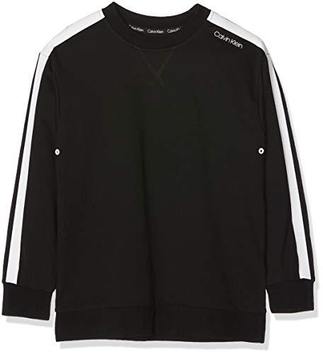 Calvin Klein Jungen Sweatshirt, Schwarz (Black 001), 140 (Herstellergröße: 8-10)