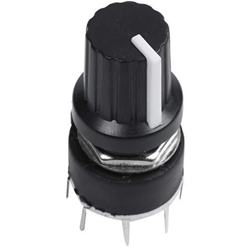 CUHAWUDBA 1 Piezas De PláStico Negro Interruptor De Banda Interruptor SR16 1 Cuchillo 5 Detiene Interruptor Rotativo 3.2 x 1.6 x 1.6cm