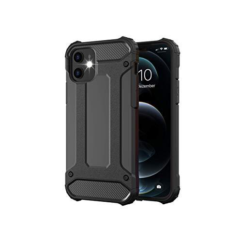 BYONDCASE iPhone 12 Mini Hülle Schwarz [Panzer Outdoor Hülle] Handyhülle iPhone 12 Mini Hardcase Ultra Slim kompatibel mit dem iPhone 12 Mini Hülle