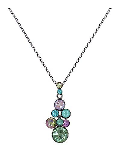Konplott Water Cascade Kette mit Anhänger Designer Mode-Schmuck mit Swarovski Elements   Halskette mit Glitzer-Steinen für Damen in Pastell   Schönes Geschenk