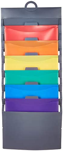 Amazon Basics Hanging 6 Pocket File Folders - Multicolor