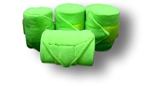 D.A. Brand Set of 4 Deluxe Soft Fleece 8' Polo Leg Wraps Horse Tack(Neon Lime)
