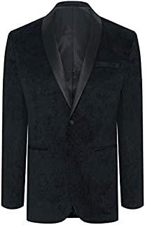 Tarocash Men's Paisley Tuxedo Jacket Polyester Sizes Small - 5XL for Going Out Smart Occasionwear
