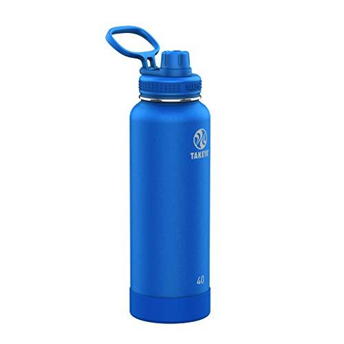 Takeya 51013 Actives Spout Bottle Ausgießer Flasche Kobalt, Edelstahl
