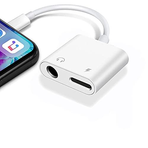 【2021最新版】2in1 Phone イヤホンジャック 3.5mm ヘッドホンジャック イヤホン変換アダプター イヤホン 充電 同時 二股 ケーブル 高音質