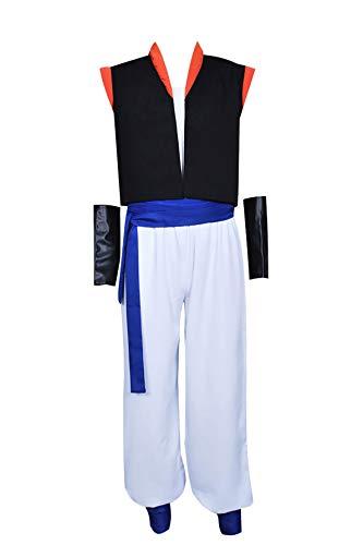 XOMO Dragon Ball Gogeta Cosplay Costume Full Set Suit M Black