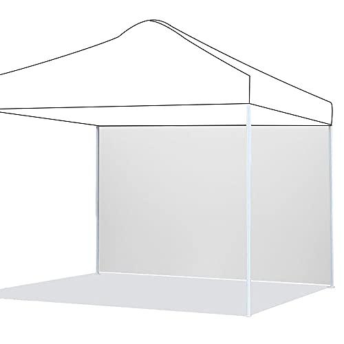 Pannelli laterali per gazebo impermeabile, 3 x 2 m, in tessuto Oxford 210D, pannello laterale di ricambio per gazebo da giardino, esterno o festa, colore: bianco
