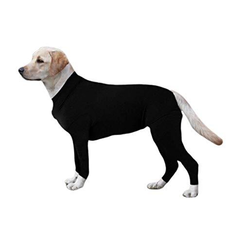 LIUCHANG Camisa del Perrito Ropa for Mascotas Perro de recuperación Animal doméstico del Vestido de Manga Larga #v Mono Mono Anti-Lama (Color: Negro, tamaño: XL) liuchang20
