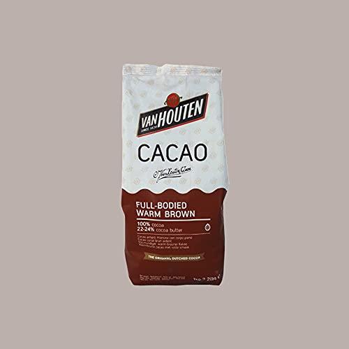 Cacao Warm Brown Van Houten Cf. 1 Kg Amaro Marrone in Polvere Bitter Brown Powder