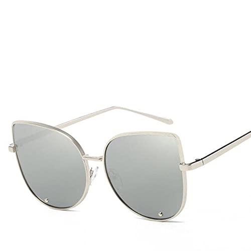 LOPIXUO Gafas de sol Gafas de sol para mujer, retro, vintage, para mujer, para mujer, espejo, para mujer, multicolor
