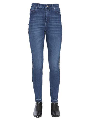 Alexander McQueen Luxury Fashion Damen 492444QJM204232 Blau Elastan Jeans | Jahreszeit Outlet
