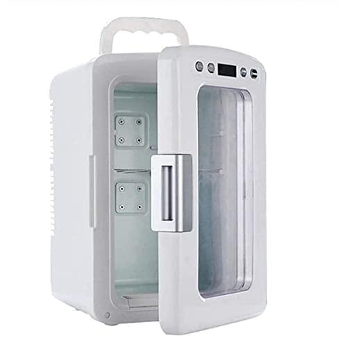 Refrigerador Compacto Mini Refrigerador para Dormitorio, Garaje, Campista, Sótano U Oficina, Nevera De Doble Puerta Y Congelador, Calentador De Refrigerador De Automóviles con Modo Eco