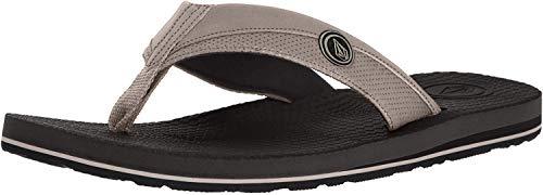 Volcom Men's Lounger Memory Foam Flip Flop Sandal, Tan, 10 D US