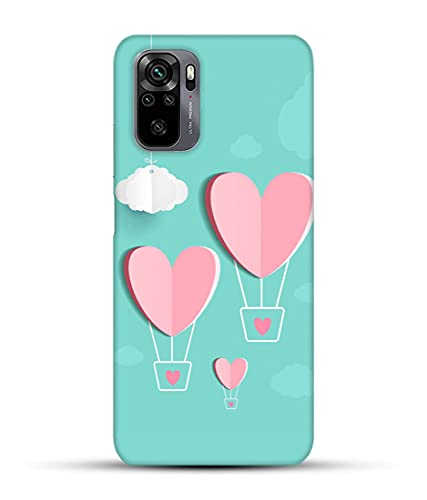 Three Pink Heart - Redmi Note 10 Pro Cover for Girls