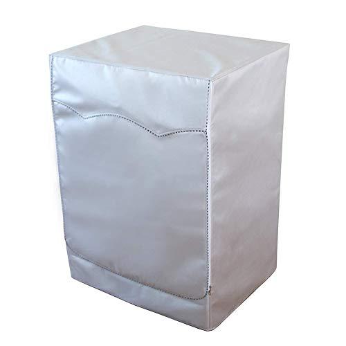 WESEEDOO Schutzhülle Waschmaschine Abdecken Staubschutzhaube Wasserdicht Stoff Reißverschluss Schutz Geeignet Frontlader Wäschetrockner und Waschmaschine (Silber)