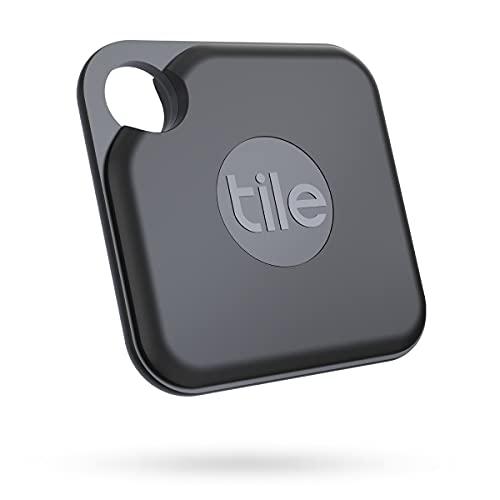 Tile Pro (2020) Bluetooth Trova Oggetti, 1 Pezzo, Nero, Portata di Rilevamento 120 m, Batteria 2 anni, Compatibile con Alexa e Google Smart Home, iOS e Android, Trova Chiavi, Telecomandi e Altro