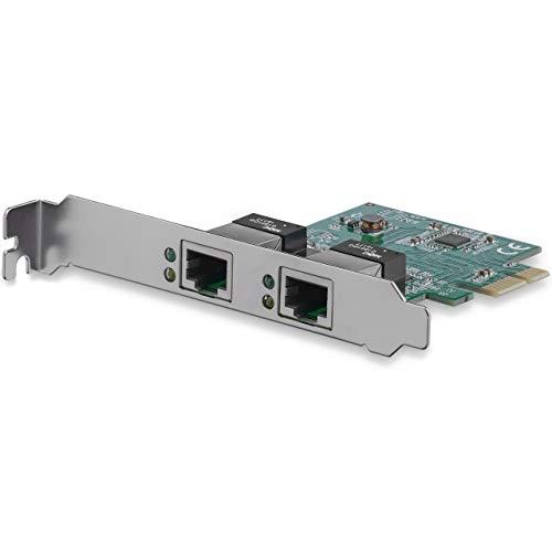 StarTech.com Dual Port PCIe Network Card - Low Profile - RJ45 Port - Realtek RTL8111H Chipset - Ethernet Network Card - Dual Port Gigabit NIC (ST1000SPEXD4)