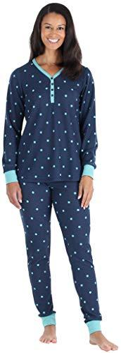 Olivia Rae Conjunto de Pijama con pantalón de chándal y Henley de Manga Larga térmica para Mujer, (ORT1150-6014-EU-SML)