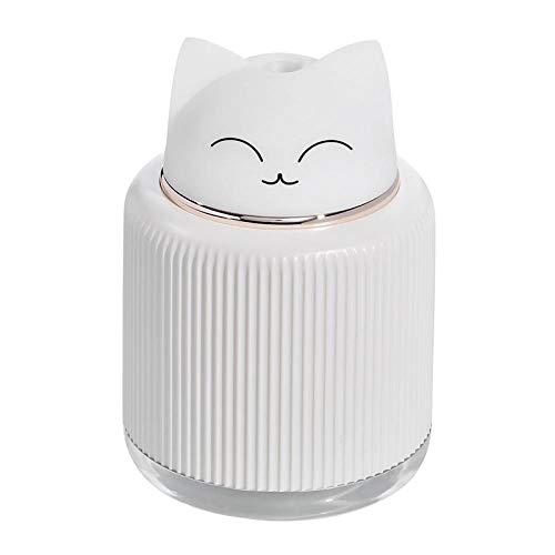 SYDUNZI Humidificador USB Caliente de 300 ml Humidificador ultrasónico de aire Difusor de aceite esencial Con LED Lámpara de Noche Regalo Aroma eléctrico Aire Coche casero H-Rosado
