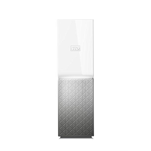 Western Digital My Cloud Home - Almacenamiento en Red NAS de 6.TB, 1 bahía, Blanco y Gris