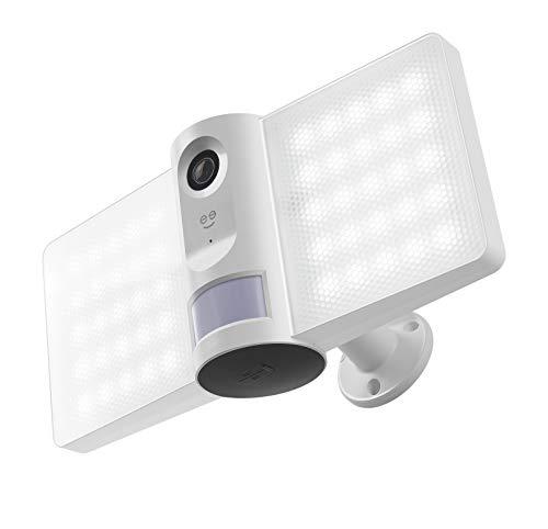Geeni Sentry Wi-Fi Wireless Smart Floodlight Security Camera, 2-Way Audio, Motion Sensor Alarm, Audio Video Recording, Works with Alexa and Hey Google
