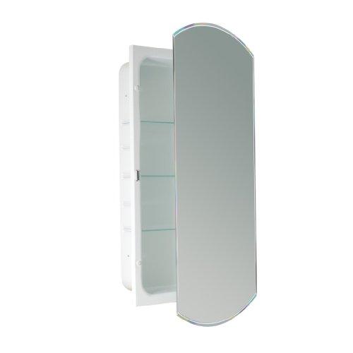 Head West Beveled Eclipse Mirror Recessed Medicine Cabinet, 16-Inch by -