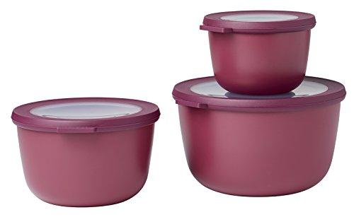 Mepal Set Multischüssel Cirqula hoch, 3-teilig (500+1000+2000 ml) - Nordic Berry set-cirqula-3-teilig-50010002000-nordic-berry, pp/TPE, 0 mm, 3