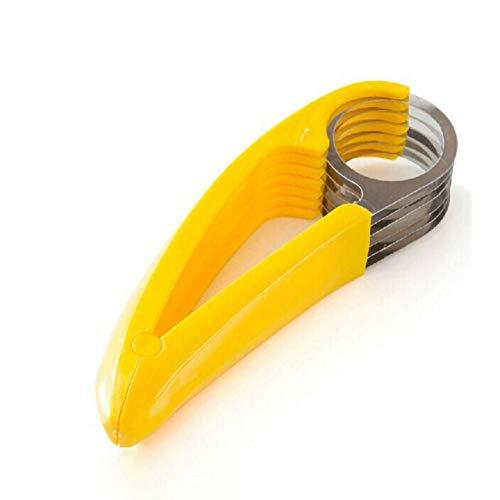 Iswell Bananenschneider Küchenbedarf Gadget Edelstahl Schnitt Schinken Wurst Obstschneider Obst und Gemüse Werkzeuge