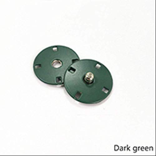 10sets Metalen Snap Knop Onzichtbare Gesp Gesp DIY Jas Down Jacket Windbreaker Decoratieve Naaien Accessoire 15mm Drak Groen