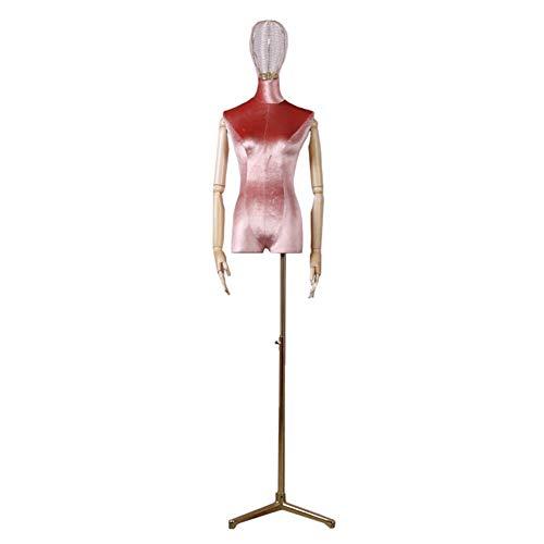 Maniqui Costura Modista Busto Rosa Maniquí Femenino Forma del Vestido, con Trípode...
