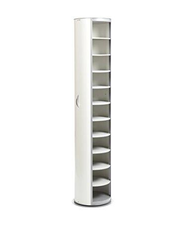 EMPORIUM Metalpop Mobile Contenitore Multiuso Girevole in Acciaio Verniciato a Polveri Epossidiche, Bianco