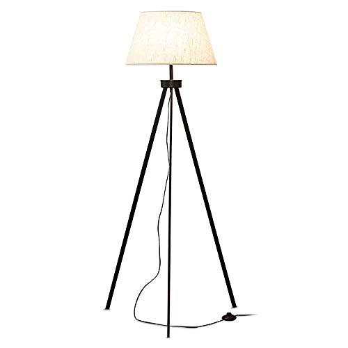 Lámpara de pie con trípode LED, regulable, moderna, para salón, dormitorio, estudio, restaurante, hotel, iluminación decorativa, lámpara de mesa de metal, casquillo E27, 12 W, 3000-6000 K