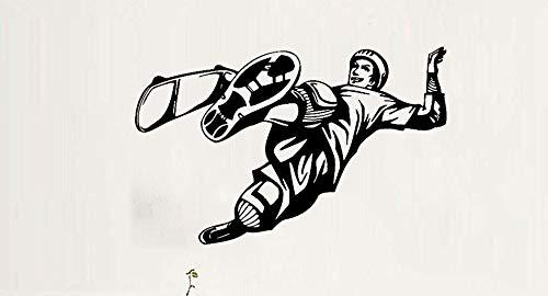 Axlgw 3D Poster Skateboard Riding Muursticker Vinyl Jongen Slaapkamer Achtergrond Muursticker Decoratie Mural Ski Kleur Behang Maat 66Cm X 42Cm