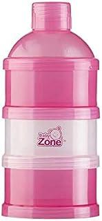 علبه 4طبقات لتخزين بودرة الحليب وطعام الأطفال من بيبي زون , وردي