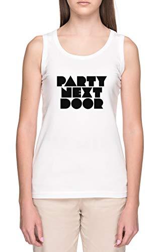 Partynextdoor Mujer Blanco Tank Camiseta Women's White Tank T-Shirt