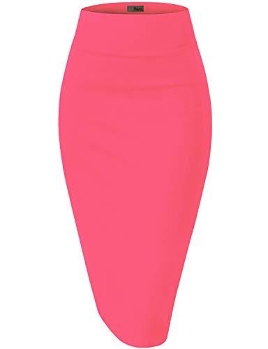 Hybrid & Company Womens Pencil Skirt for Office Wear KSK45002 1073T Pink CARNA L