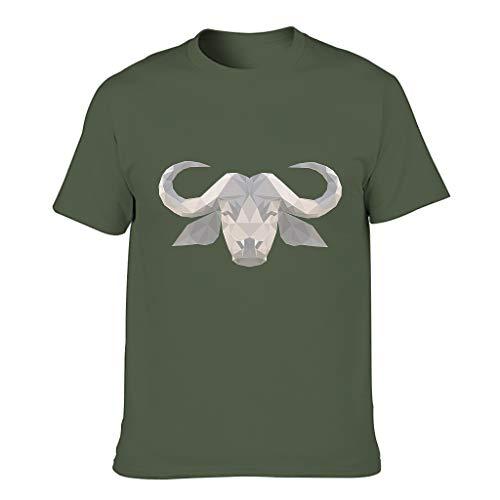 Camiseta baja de poli arte de ganado para hombre, humor sarcasmo