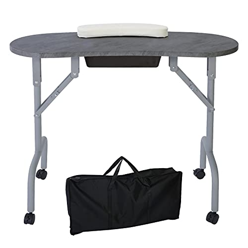 AGESISI Portable Folding Manicure Nail Table