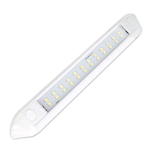 Dream Lighting Markise Lichtleiste 12v für Wohnwagen Auto Wohnmobil, IP66 Wasserdicht, Dreieckskonstruktion für Wandmontage, 250mm Weiße Schale