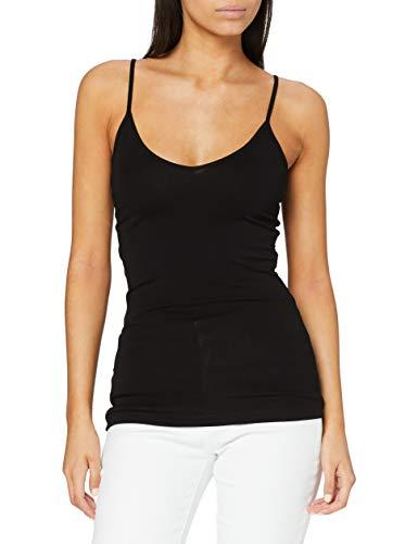 VERO MODA VMMAXI MY SOFT V SINGLET NOOS, camiseta sin mangas Mujer, Negro (Black), 38 (Talla del fabricante: Medium)