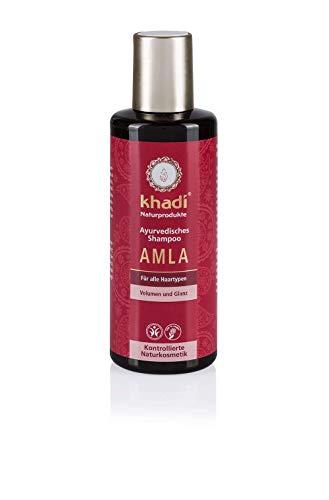 khadi Ayurvedisches Shampoo Amla 210ml I natürliches Haarshampoo für Volumen und Glanz I Naturkosmetik 100% pflanzlich