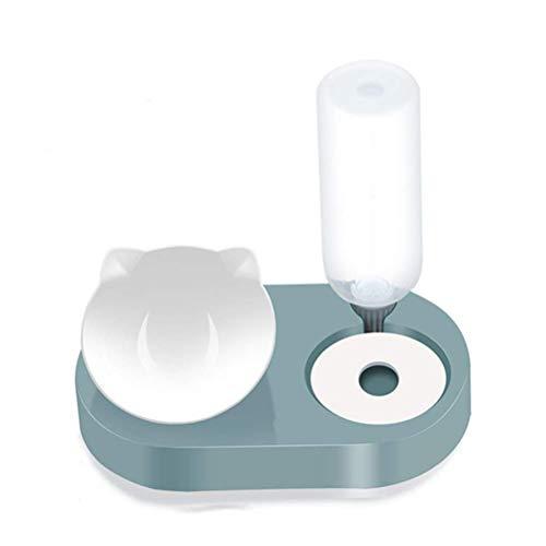 2in1 Lebensmittel Hundeschüsseln für kleine Hunde Wasserspender Wasseraufbewahrung Katze Schalen mit Ständer Automatische Zuführung Pet Hundekatze Food Food Bowl (Farbe: Grün) lalay ( Color : Green )