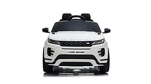 TOYSCAR electronic way to drive Auto Macchina Elettrica Range Rover Evoque 12V per Bambini Sedile in Pelle Porte apribili con Telecomando Full Accessori Bianca