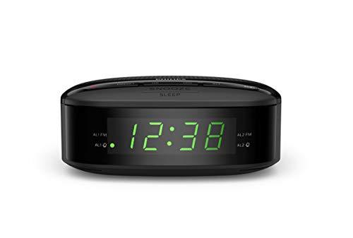 Philips Radiodespertador R3205/12 FM Radio (Alarma Dual, Temporizador, Diseño Compacto, Radio Digital FM, Batería de Reserva) - Modelo de 2020/2021