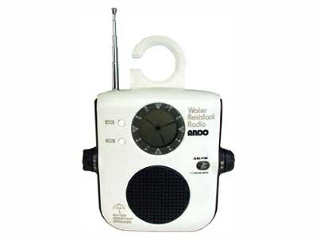 軽量振りかけるしみ防滴ラジオ&アナログ液晶時計 RK6-694W